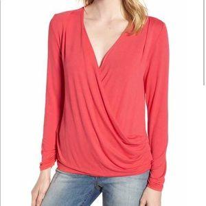 Tops - Gorgeous V neck Asymmetrical Top